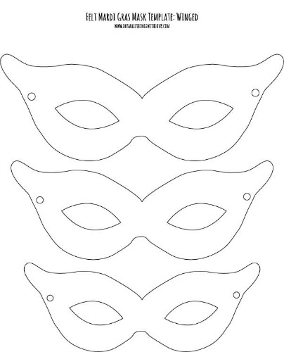 felt mardi gras masks for kids free printable do small things with great love. Black Bedroom Furniture Sets. Home Design Ideas