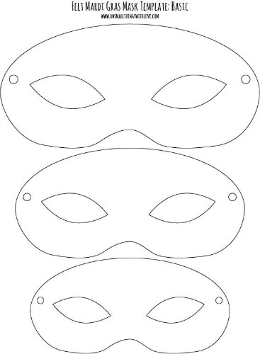 Canny image inside printable mask template