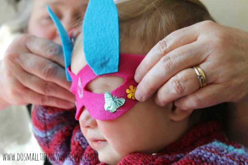 Mardi Gras Mask Baby