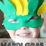 Mardi Gras Masks for kids--free template!