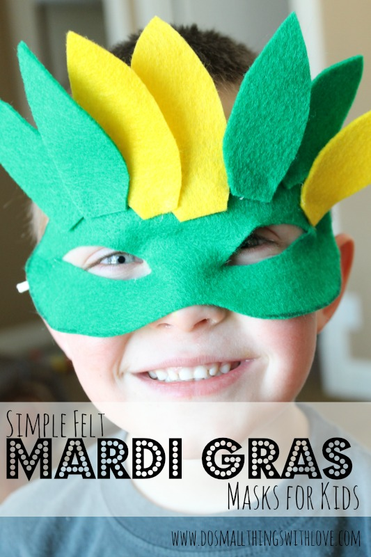 Felt Mardi Gras Masks for Kids free printable & Felt Mardi Gras Masks for Kids free printable u2013 Do Small Things ...