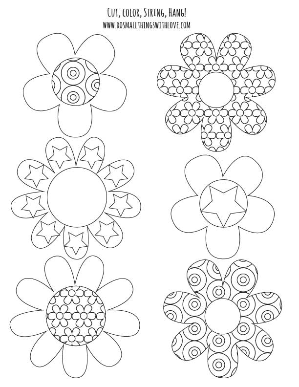 Colorable Spring Banner {free printable} and #MFB - Do ...