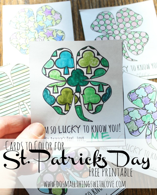image regarding St Patrick's Day Cards Free Printable identify St. Patricks Working day Coloring Playing cards absolutely free printable Catholic