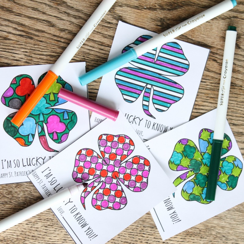 St. Patty's coloring cards