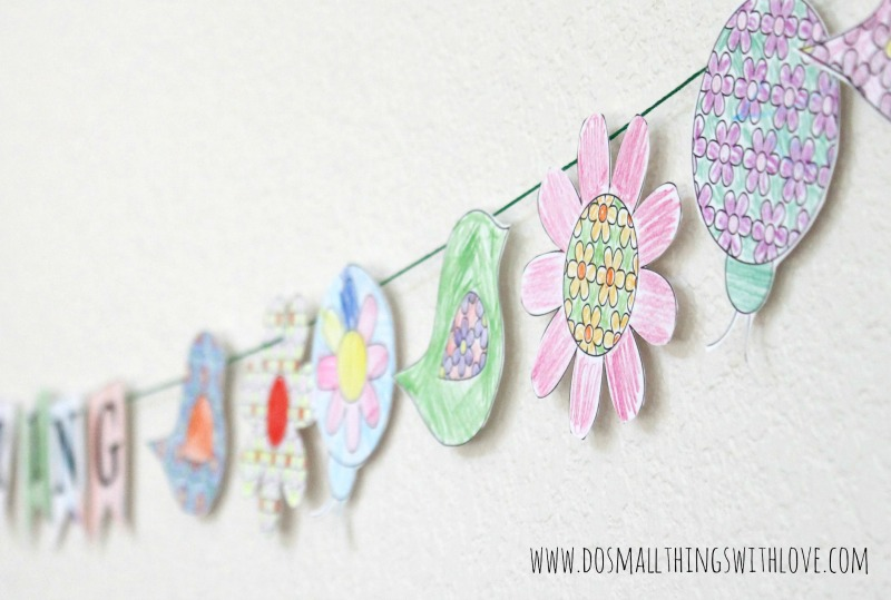 Colorable Spring Banner {free printable} and #MFB – Do Small Things ...