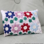 embroidered lace pillow 2