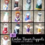 13 Lenten Finger Puppets