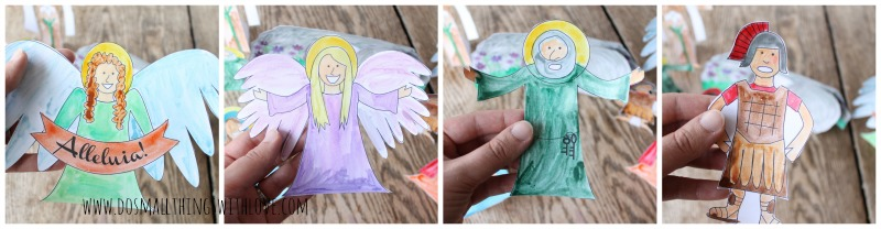 Easter Resurrection Set to color this year.  Free printable