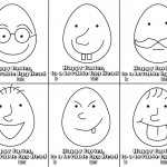 Egg Head Easter Cards