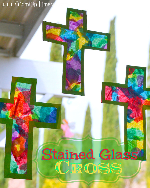 30 christian easter crafts do small things with great love stained glass cross craft1 negle Image collections