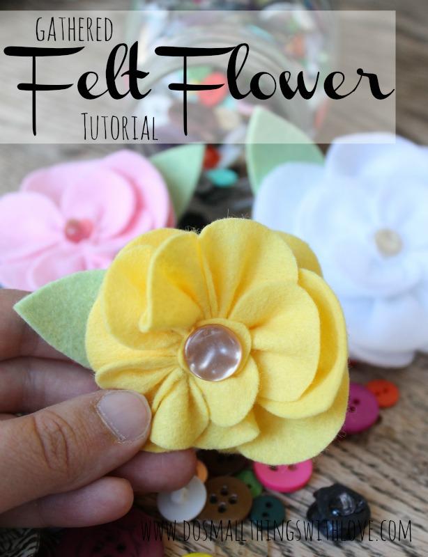 gathered felt flower tutorial