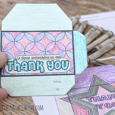 Gift Card Envelopes to Color and Give