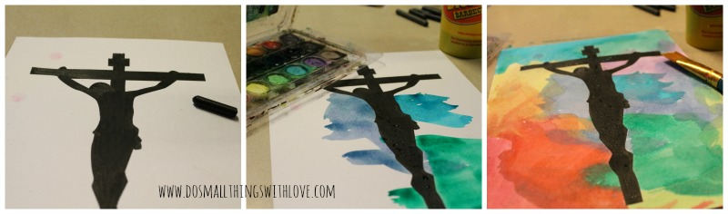 printable watercolor crucifix how to