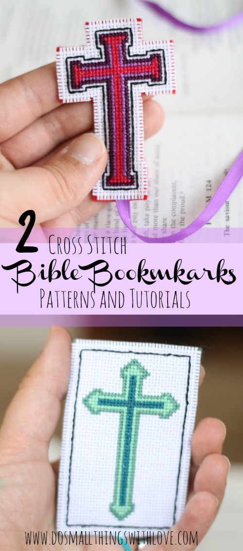 2 patterns for making cross stitch bible bookmarks
