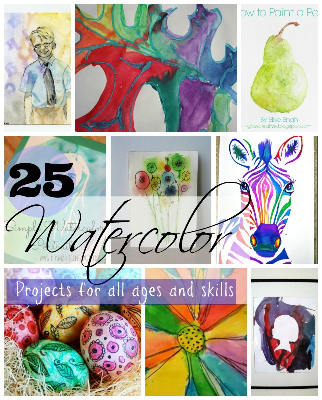 25 creative watercolor projects do small things with for Easy watercolour projects