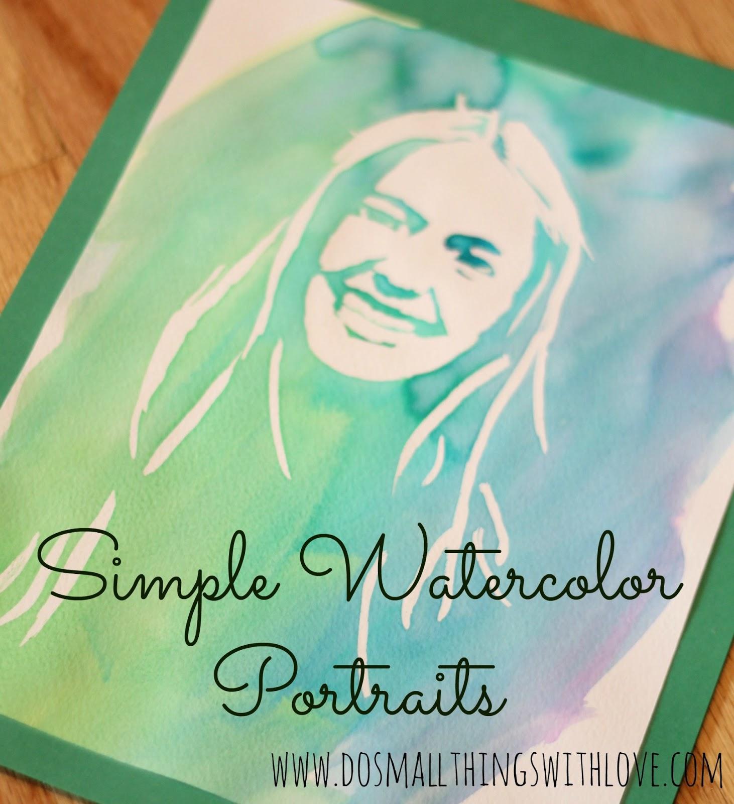 Simple Watercolor Portraits Tutorial