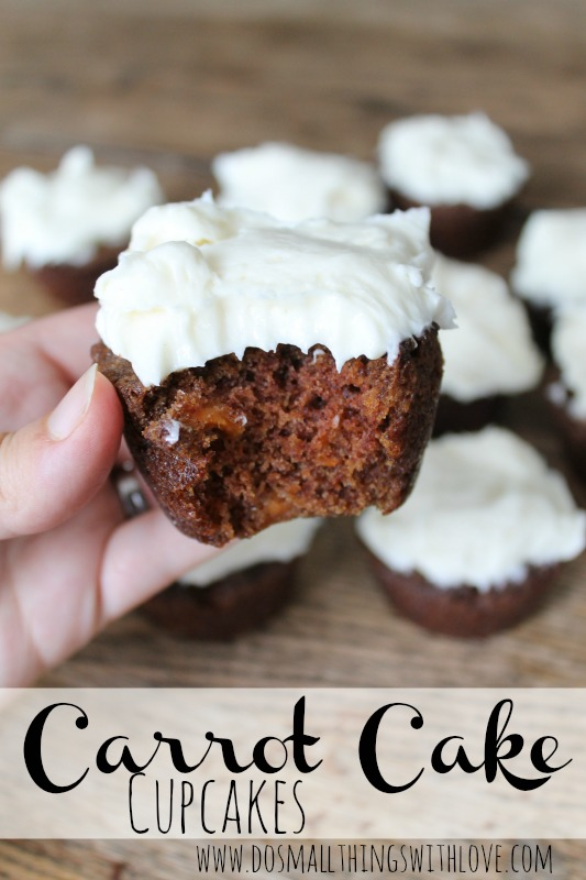 Carrot Cake Cupcakes Recipe – Do Small Things with Love