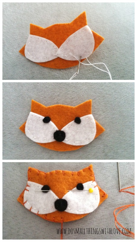 felt fox brooch how to