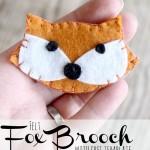felt fox brooch with free template