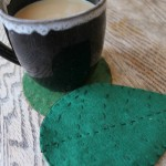 felt leaf coasters with free template