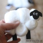 sheep easter cards craft for kids with free printable