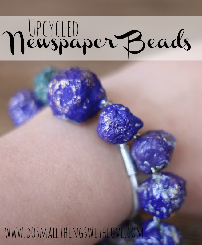 upcycled newspaper beads tutorial