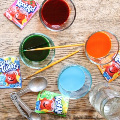 Kool-Aid Watercoloring #KoolOff
