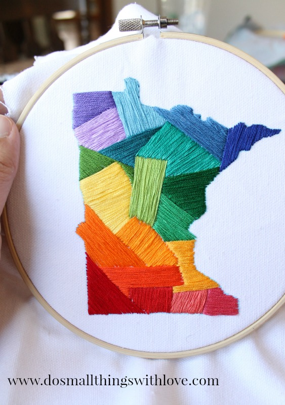 state love embroidery project