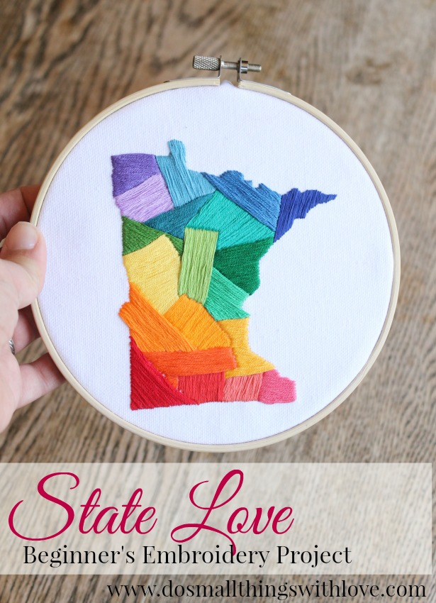 state love embroidery