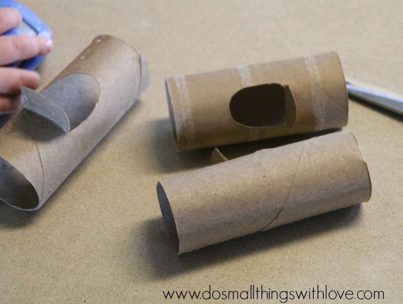 toilet paper roll cars step 1