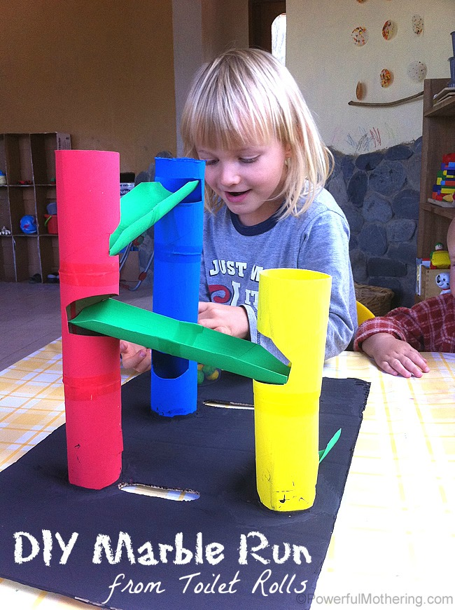 DIY-Marble-Run-from-Toilet-Rolls-fun