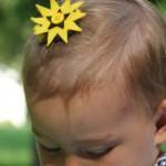 DIY felt hair accessory for baby