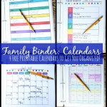 Free Family Binder 4 Helpful Calendars