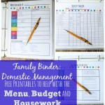 Free Family Binder Domestic Management