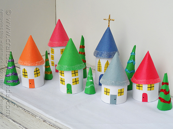 cardboard-tube-christmas-village-1