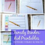free family binder 5 kid printables