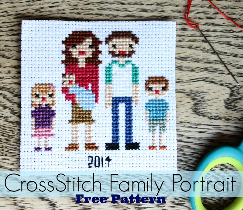 Family Portrait Cross Stitch Pattern