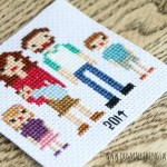 cross stitch family portrait pattern