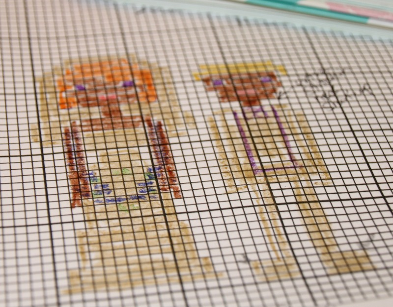 cross stitch wedding planning