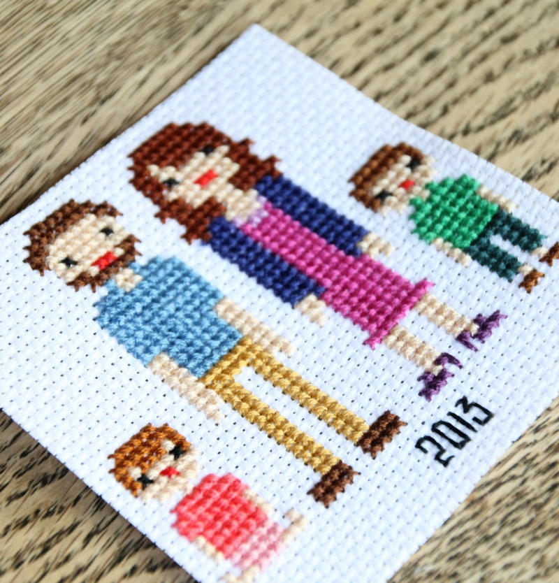 family portrait in cross stitch 2