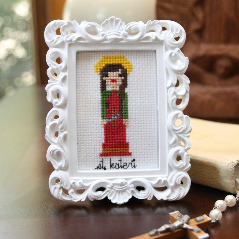St. Kateri Cross stitch pattern cg