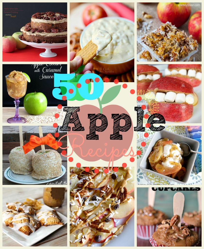 apple recipes collage