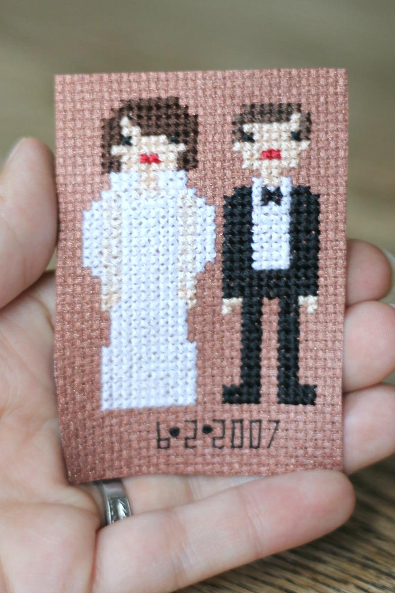bridal cross stitch #3