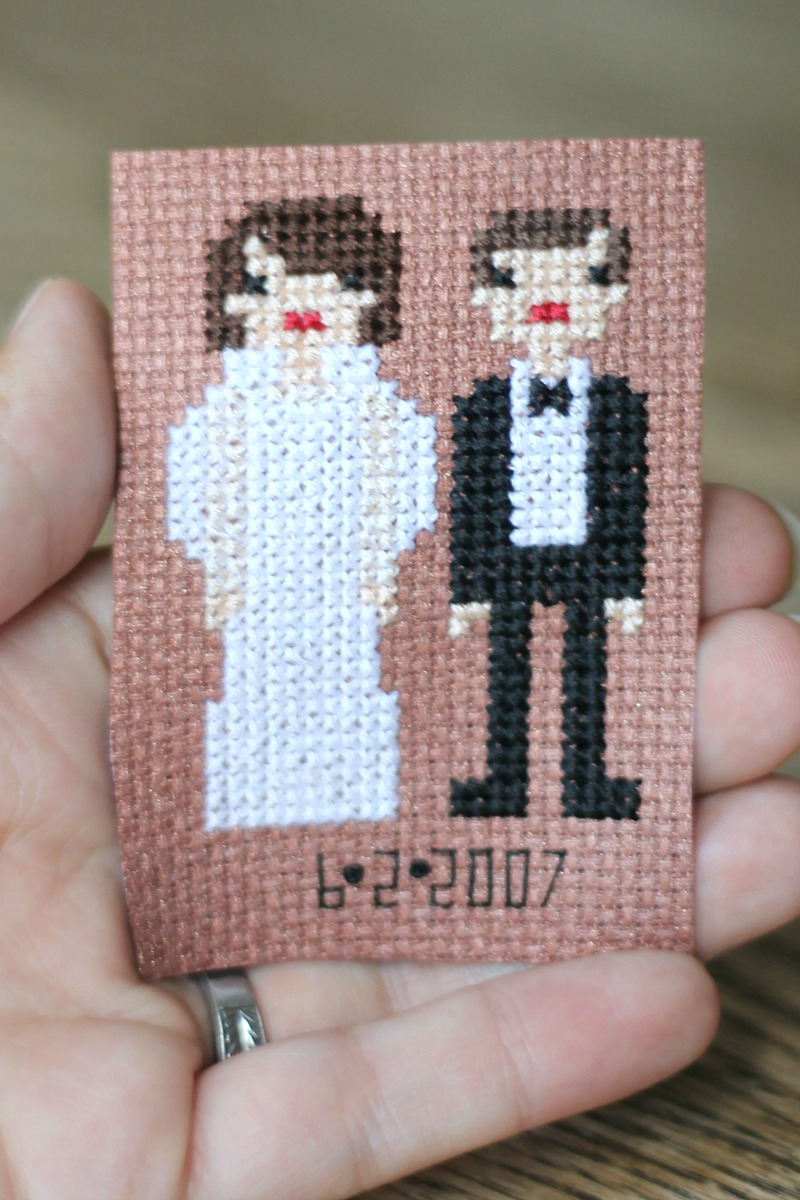 bridal cross stitch #3