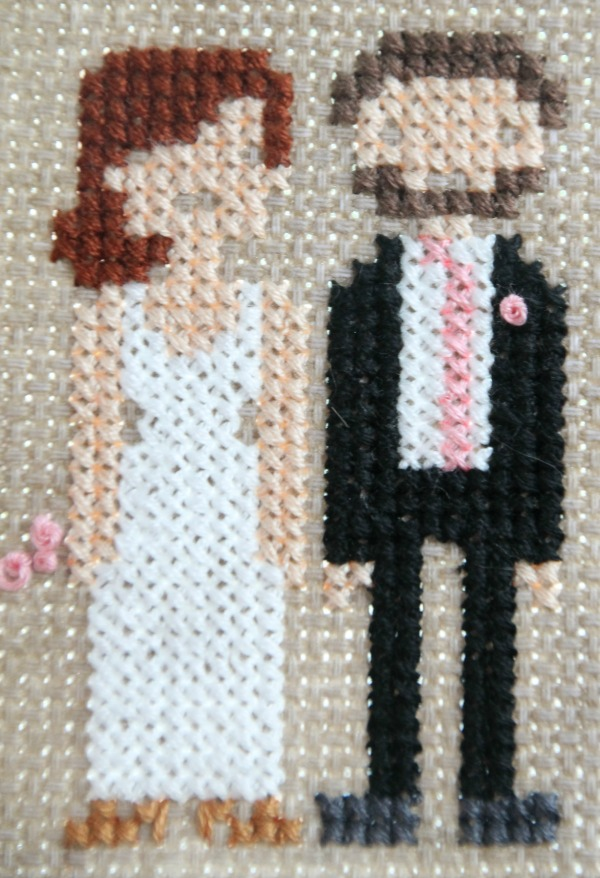 bridal cross stitch tutorial