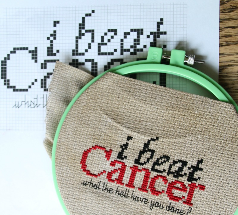 buzz cancer cross stitch