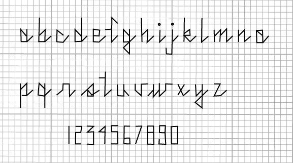 Cross Stitch Pattern Lettering
