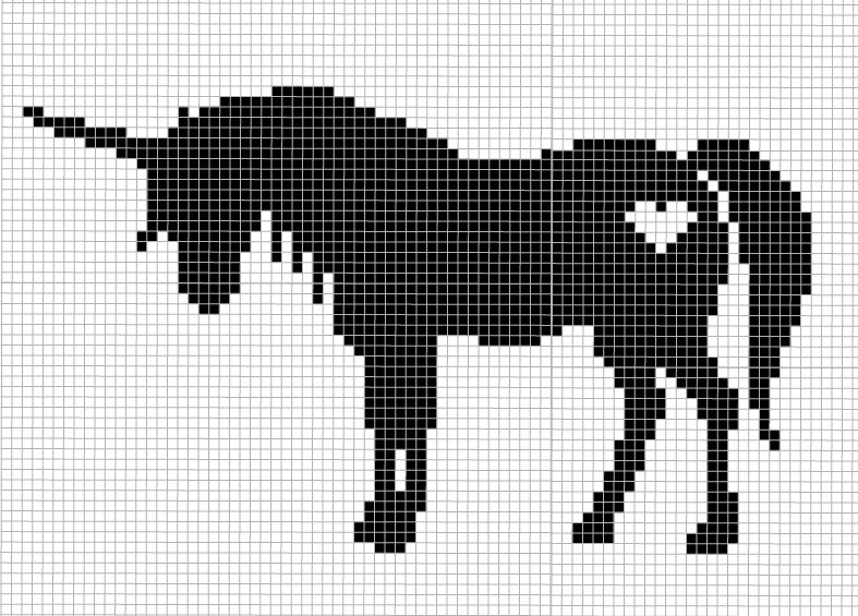 cross stitch unicorn pattern