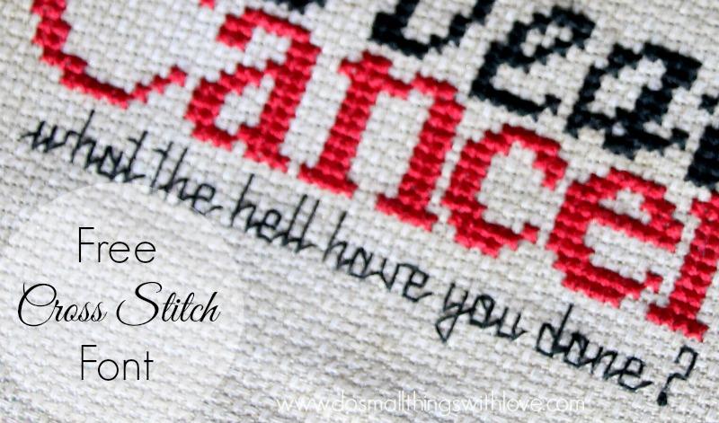 free cross stitch font