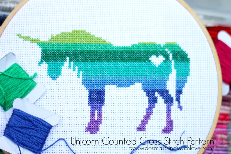 unicorn counted cross stitch pattern